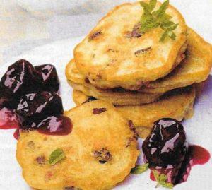 Apfel Pflaumen Pancakes