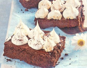 Aprikosen Baiser Brownies