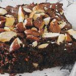 Birnen Brownies mit Mandeln
