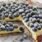 Blaubeerkuchen mit Vanillecreme