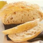 Frisches Brot ohne Kneten