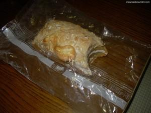 Brot beim abkühlen im Gefriebeutel