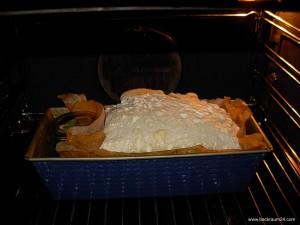 Der Hefeteig im Ofen