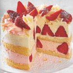Kleine Erdbeer Buttercreme Torte