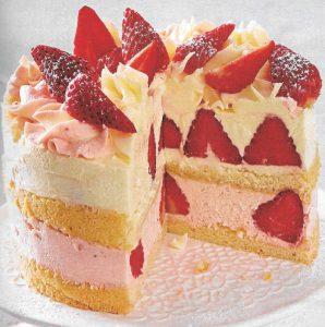 Erdbeer Buttercreme Torte