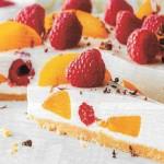 Frischkäse Kuchen mit Früchten