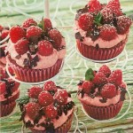 Himbeer Hafer Cupcakes