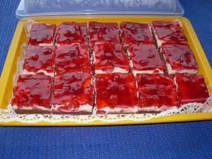 Leckere Erdbeer Schnitten