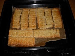 Die Nussstangen fertig gebacken