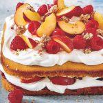 Pfirsich Melba Kuchen