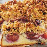 Pflaumenkuchen mit Hafer Crunch