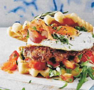 Rosmarin-Waffel-Burger