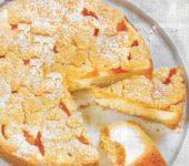 Streuselkuchen mit Aprikosen und Quark